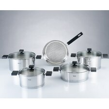 Milan 9 Piece Stainless Steel Cookware Set