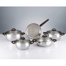 Bahama 9 Piece Stainless Steel Cookware Set