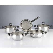 Monaco 9 Piece Stainless Steel Cookware Set