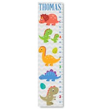 Personalized Kids Gift Cute Dinosaurs Canvas Decal Growth Chart