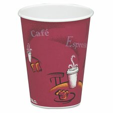 Company Bistro Design Hot Drink Cups, Maroon, 50/Pack (Set of 2)