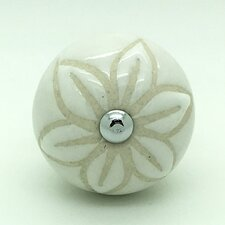 Stencil Flower Door Knob (Set of 2)