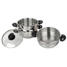 Supreme 3-Piece Steamer Pot Set
