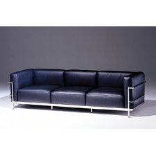 Le Corbusier Grand Firm Comfort Leather Sofa