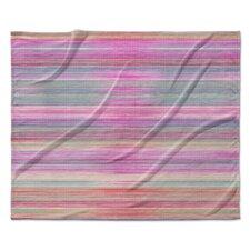 Abstract Fleece Sunset Throw Blanket