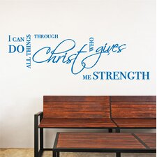 I Can Do All Things Bible Quote Wall Decal