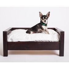 Cozy Cama Wooden Furniture Style Dog Sofa with Pillow