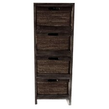 Wood Cabinet with 4 Drawers
