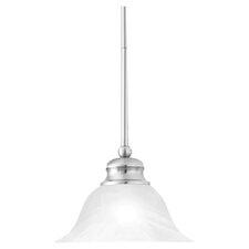 Alabaster 1 Light Bowl Pendant