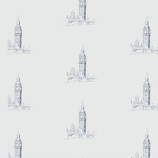 "London Calling 12' x 24"" Rolls Wallpaper"