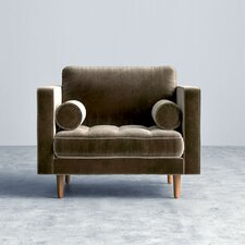 Luca Armchair in Vintage Velvet - Oxford
