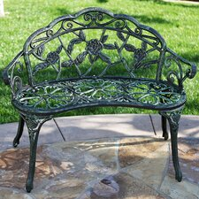 Rose Iron Garden Bench