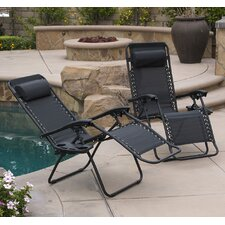 Chaise Lounge with Cushion (Set of 2)