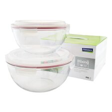 2 Piece Glass Mixing Bowl Set