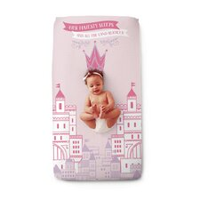 Picture Perfect Pink Princess Fitted Crib Sheet