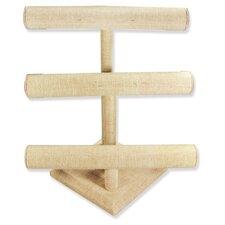3 Tier Linen T Bar Display Jewelry Box