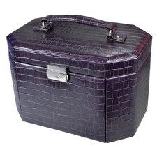 Luxury Leatherette Lockable Jewelry Box