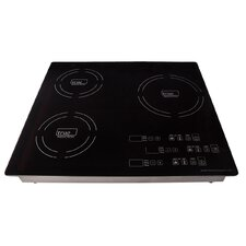 "23.25"" Electric Induction Cooktop with 3 Burners"
