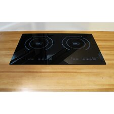 "23.63"" Electric Induction Cooktop with 2 Burners"