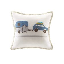 Shasta Embroidered Square Cotton Throw Pillow