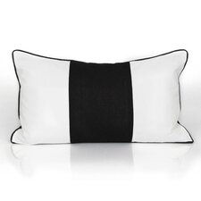 Solid Striped Lumbar Pillow