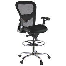 Height Adjustable Mesh Drafting Chair