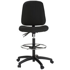 Height Adjustable Contoured Dual Function Drafting Stool
