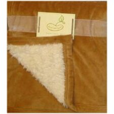 Micro Mink Reversing to Sherpa Crib Throw in Brown