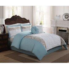 Casa Christina Floral Leaf 6 Piece Comforter Set