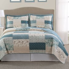 Lakewood Lifestyles 3 Piece Full/Queen Quilt Set