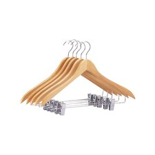 Suit/Jacket Hanger with Clips (Set of 5)