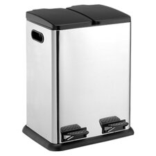 2 Compartment Step On 10.57-Gal. Multi Compartment Recycling Bin