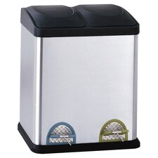 2 Compartment Step-On 7.93-Gal. Multi Compartment Recycling Bin