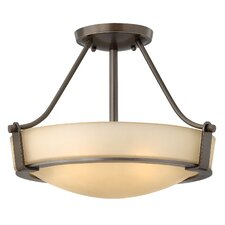 Hathaway 3 Light Semi Flush Mount