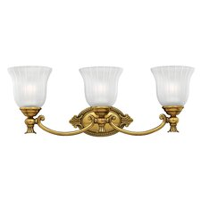 FrancoiseWall Sconce in Burnished Brass
