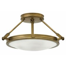 Collier 3 Light Semi Flush Mount