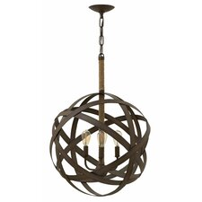 Carson 3 Light Globe Pendant