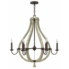 Middlefield 6 Light Candle Chandelier