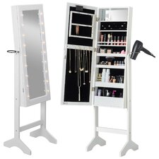 Beautify Jewelry Armoire with Mirror