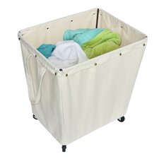 Homz Canvas Commercial Hamper with Casters