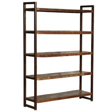 "Hovito Wood 80"" Accent Shelves Bookcase"