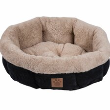 Snoozzy Mod Chic Round Shearling Bed