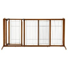 Deluxe Freestanding Pet Gate with Door