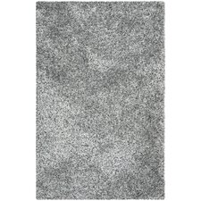 Malibu Gray and Black Shag Area Rug
