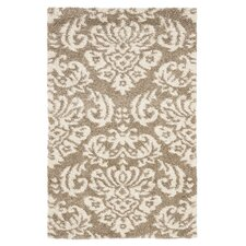Florida Shag Beige & Cream Area Rug
