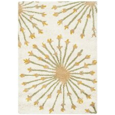 Bella Beige & Gold Tribal Area Rug