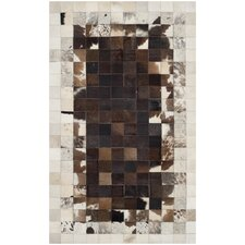 Studio Ivory / Dark Brown Geometric Rug