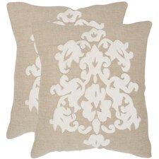 Margie Cotton Throw Pillow (Set of 2)