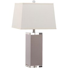 "Mirage 25.5"" Table Lamp with Cotton Hardback Shade (Set of 2)"