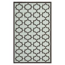 Dhurries Light Blue/Black Area Rug